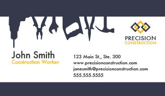 Construction Business Cards Design Custom Business Cards