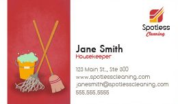 Cleaner business cards selowithjo cleaning business cards design custom business cards for free wajeb Gallery