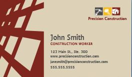 Construction business cards design custom business cards for free construction business cards reheart Image collections