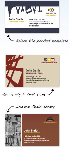 Construction Business Cards Design Custom Business Cards For Free - Construction business cards templates free