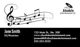 Entertainment DJ Business Cards Design Custom