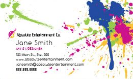 Entertainment dj business cards design custom business cards dj business cards reheart Image collections