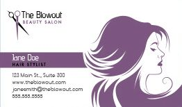 Hair Stylist Salon Business Cards Design Custom Business Cards - Hair salon business card template