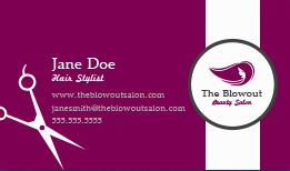 Hair stylist salon business cards design custom business cards hair stylist business cards reheart