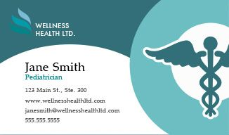 Healthcare business cards design custom business cards for free design personalized cards online in minutes healthcare business cards healthcare business cards reheart Gallery