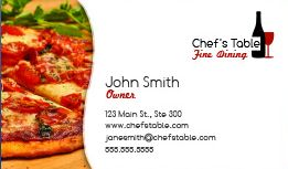 Food industry restaurant business cards for free restaurant business cards reheart Choice Image