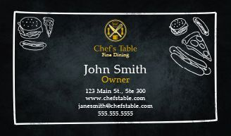 Food industry restaurant business cards for free custom restaurant business cards design personalized cards online in minutes restaurant business cards restaurant business cards reheart Gallery