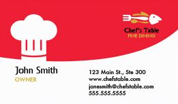 restaurant business cards - Restaurant Business Card