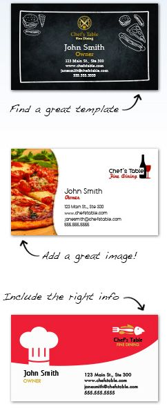 Food industry restaurant business cards for free restaurant business cards reheart Gallery
