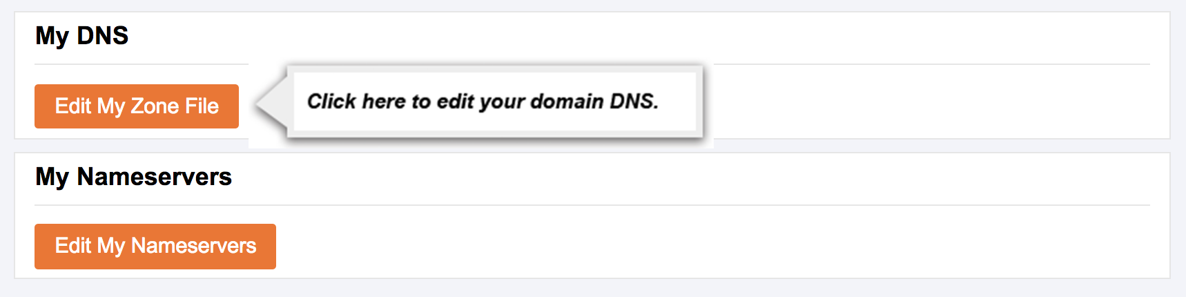 Arrow Pointing to Edit My DNS link