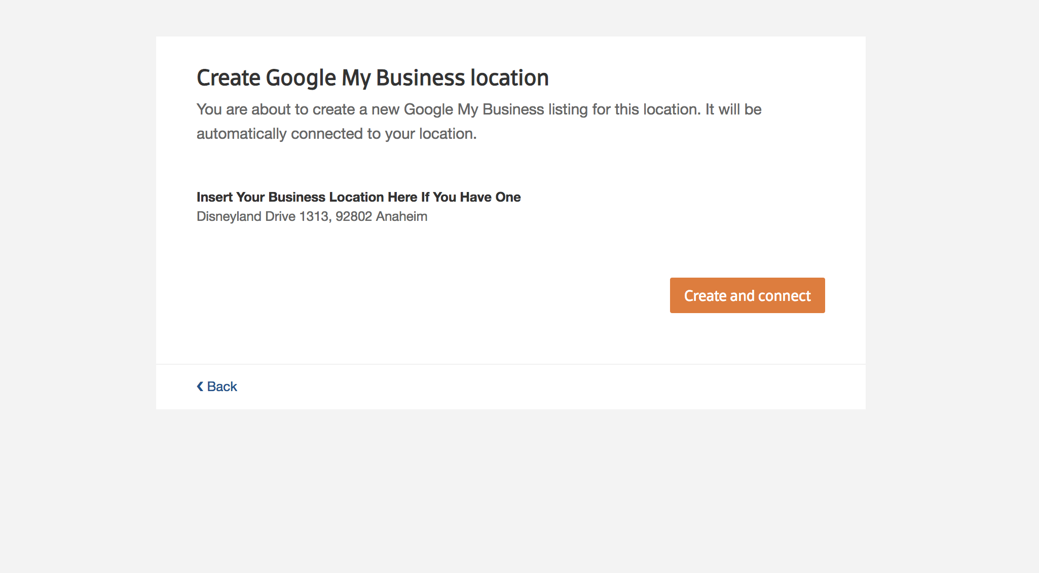 Display of Google Confirming Your Request to Access your online business listing information