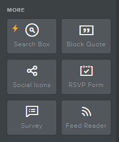 Website Builder Miscellanious Icon Section