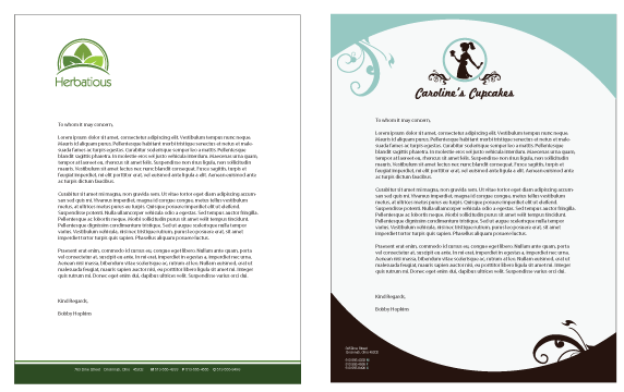 Business letterhead templates examples of business letterheads business letterhead spiritdancerdesigns