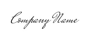 Example of a cursive font style