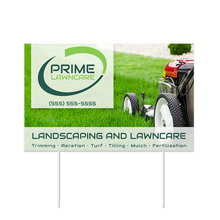 Custom Lawn Signs - Design Yard Signs Online   FreeLogoServices