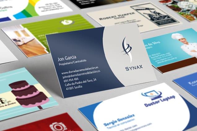 Ejemplos de tarjetas de negocios