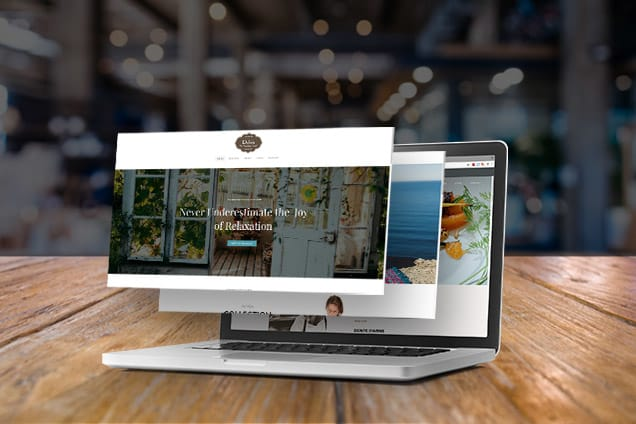 Ejemplo de un sitio web comercial