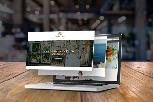 Bir işletme web sitesi örneği