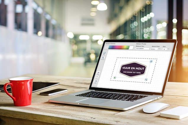 Een logo maken op een laptop