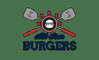All Star Burger Restaurant Icon Logo Design