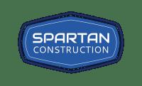 Spartan Construction Badge Logo Design